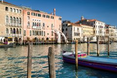 Sculpture SUPPORT in Venice, Italy Royalty Free Stock Photo