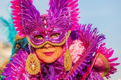 Disguised woman at the Carnival of Venice Royalty Free Stock Photo