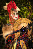 VENICE, ITALY - FEBRUARY 8: Unidentified person in Venetian mask Royalty Free Stock Photo