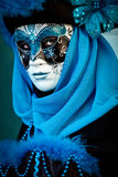 VENICE, ITALY - FEBRUARY 8: Unidentified person in Venetian mask Royalty Free Stock Image