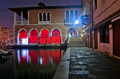 Venice Italy fish market Royalty Free Stock Images