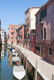 Venice, Italy. Fondamenta dei Sartori in Cannaregio Royalty Free Stock Photos