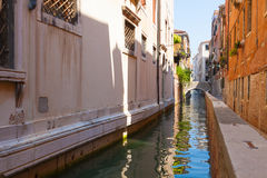 Venice.Italy. Gondola at the pier in Venice at Piazza San Marco The canals of Venice as the city streets Royalty Free Stock Photos