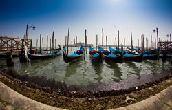 Venice, Italy with gondolas Royalty Free Stock Photo