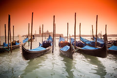 Venice, Italy with gondolas Stock Image
