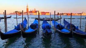 Venice, Italy - Gondolas stock footage