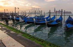 Venice,italy. Gondolas at morning Stock Photo