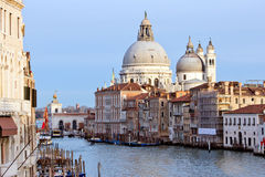 Grand canal and Basilica in Venice Royalty Free Stock Images