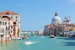 Venice, Italy. Grand Canal and Basilica Santa Maria della Salute Stock Image