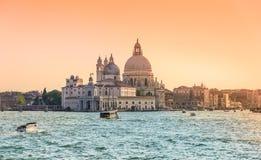 Venice, Italy,Grand Canal and Basilica Santa Maria della salute Stock Photo