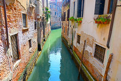 Venice, Italy, Grand Canal and historic tenements Royalty Free Stock Photo