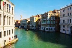 Venice, Italy, Grand Canal and historical buildings Stock Images