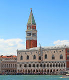 VENICE Italy Campanile of Saint Mark and Ducal Palace with Effec Stock Photo