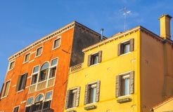Venice, Italy: Houses by the Canal stock photography