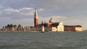 Venice in Italy. Isola die San Giorgo Maggiore in Venice, Italy Europe stock video footage