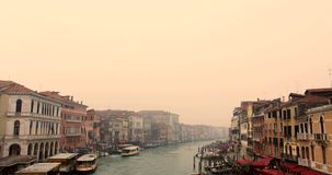 VENICE, ITALY - January 2014: boats traveling on Grand Canal stock video footage