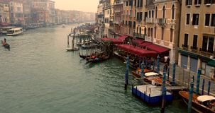 VENICE, ITALY - January 2014: boats traveling on Grand Canal stock footage