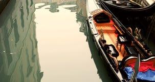 VENICE, ITALY - January 2014: Canals and gondolas Royalty Free Stock Image