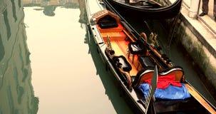 VENICE, ITALY - January 2014: Canals and gondolas stock video