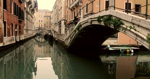VENICE, ITALY - January 2014: Canals and old buidings stock footage