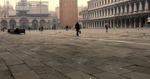 VENICE, ITALY - January 2014: People in the main square stock footage