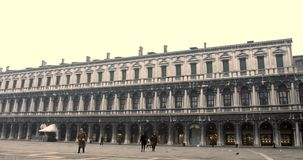 VENICE, ITALY - January 2014: People walking in the square stock footage