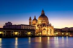 Venice. ITALY. January 11, 2006. Santa Maria della Salute at dusk Royalty Free Stock Photography