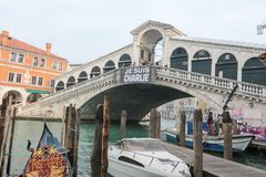 Venice Italy - Je Suis Charlie Vigil Royalty Free Stock Photos