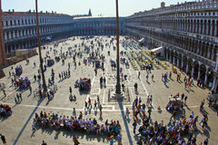 Tourists on San Marco square in Venice, Italy Stock Images
