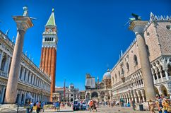 Free VENICE, ITALY - JUN 2014: The St. Mark`s Square, Piazza San Marco, With Campanile And Doge`s Palace On June 9, 2014 In Venice, Stock Photos - 131453023