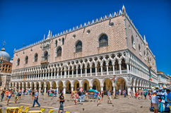VENICE, ITALY - JUN 2014: The St. Mark's Square, Piazza San Marc Royalty Free Stock Images