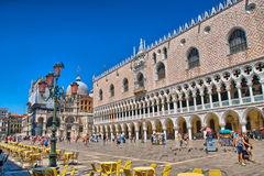 VENICE, ITALY - JUN 2014: The St. Mark's Square, Piazza San Marc Stock Photography