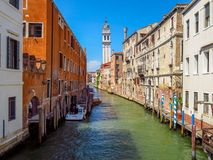 Venice - Falling campanile in Venice Royalty Free Stock Photos