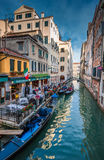 VENICE, ITALY - June, 08: Gondolas at Grand Canal in Venice, Ita Stock Image