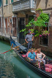 VENICE, ITALY - June, 09: Gondolas at Grand Canal in Venice, Ita Royalty Free Stock Photos