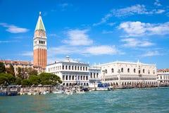 VENICE, ITALY - JUNE 27, 2016: San Marco area full of turists Stock Photos