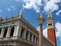 San Marco Piazza (St. Mark's Square) in Venice stock images
