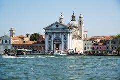 VENICE, ITALY: June 20, 2017: Santa Maria del Rosario is a Dominican church on the Giudecca Canal. Stock Photos