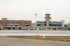 Main Terminal, Venice Airport, Italy Stock Photos