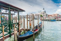 Venice on a Slightly Rainy Day stock images