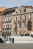 Venice, Italy - Little Bridge, Old Building Facade Royalty Free Stock Photos