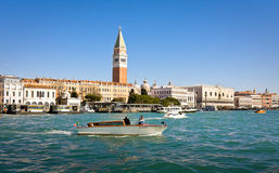 VENICE, ITALY - MARCH 28,2015: Boats at Grand Canal in Italy on March 28, 2015 in Venice Stock Photography