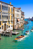 VENICE, ITALY - MARCH 28,2015: Canal Grande in Venice, Italy as seen from Ponte dell'Accademia Royalty Free Stock Images