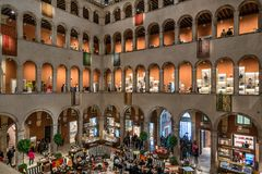 Fondaco dei Tedeschi shopping centre in Venice stock photos