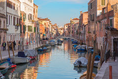 VENICE, ITALY - MARCH 13, 2014: Fondamenta dei Riformati street Stock Photo