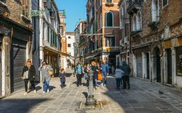 Fountain with drinking water in the streets of Venice stock images