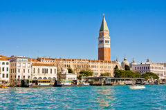 VENICE, ITALY - MARCH 28,2015: View of Doge's palace and Campanile on Piazza di San Marco, Venice, Italy Royalty Free Stock Images