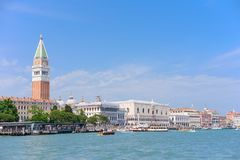 VENICE, ITALY - MAY, 2017: Beautiful San Marco square with its Palace of Doges and Campanile, Venice.  stock photo