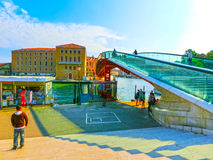 Venice, Italy - May 1, 2014: Constitution Bridge Stock Images