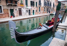VENICE, ITALY - MAY 16, 2010: A gondola in Venice, Italy Stock Photo